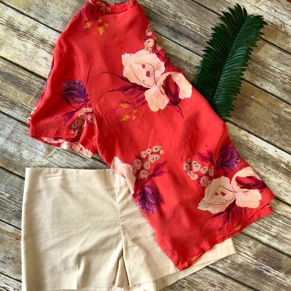 3bcee6013d5cbb Vintage Seta Studio Floral Silk Blouse. M 5b2259be194dad25f4976d93